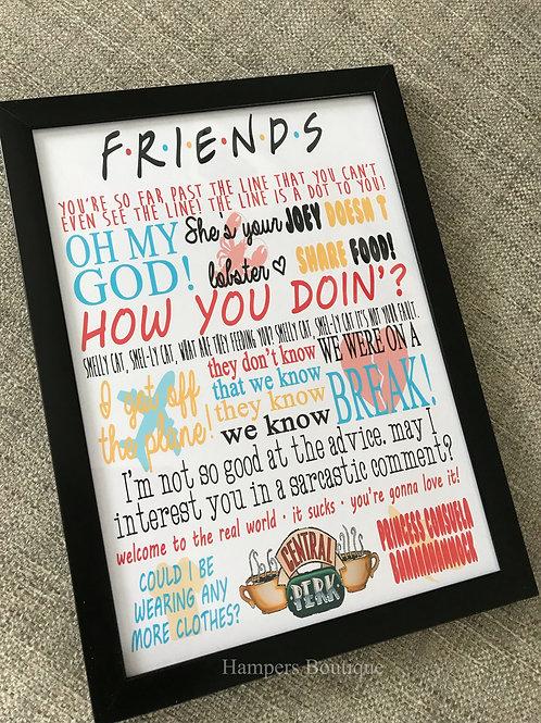 Framed friends canvas print