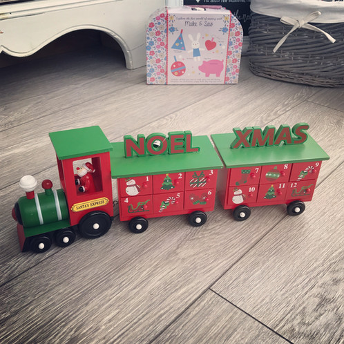 Wooden Advent Train