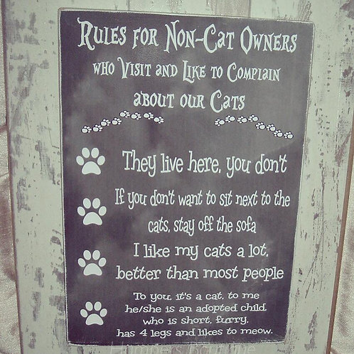 Rules for non-cat owners plaque