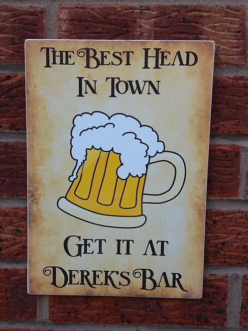 The best head in town plaque