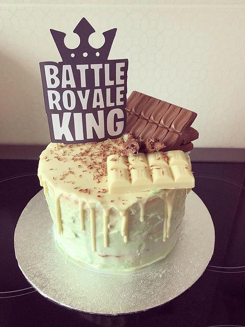 Battle Royale king cake topper