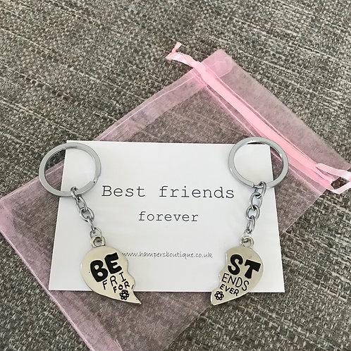 Best friends forever key ring set