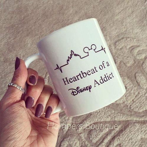 heartbeat of a Disney addict mug