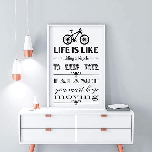 Life is like print