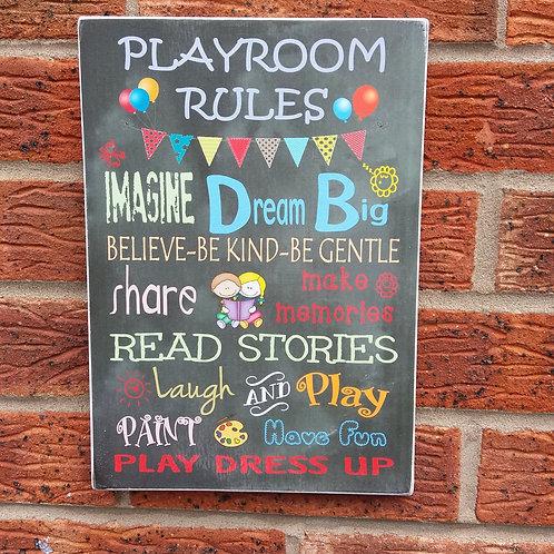 Plaqyroom rules plaque