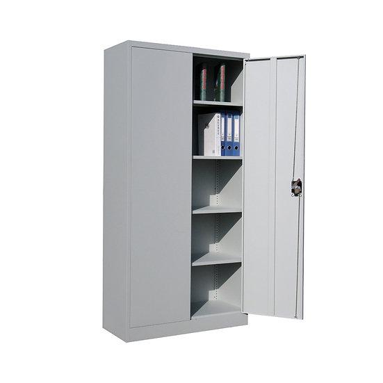 2 door white metal cabinet