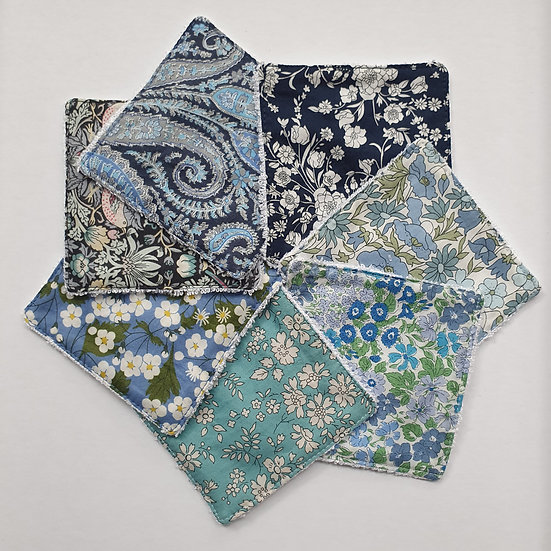 Deluxe reusable wipes- Liberty tana lawn blues