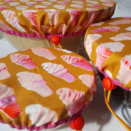 fabric bowl cover set - ice creams