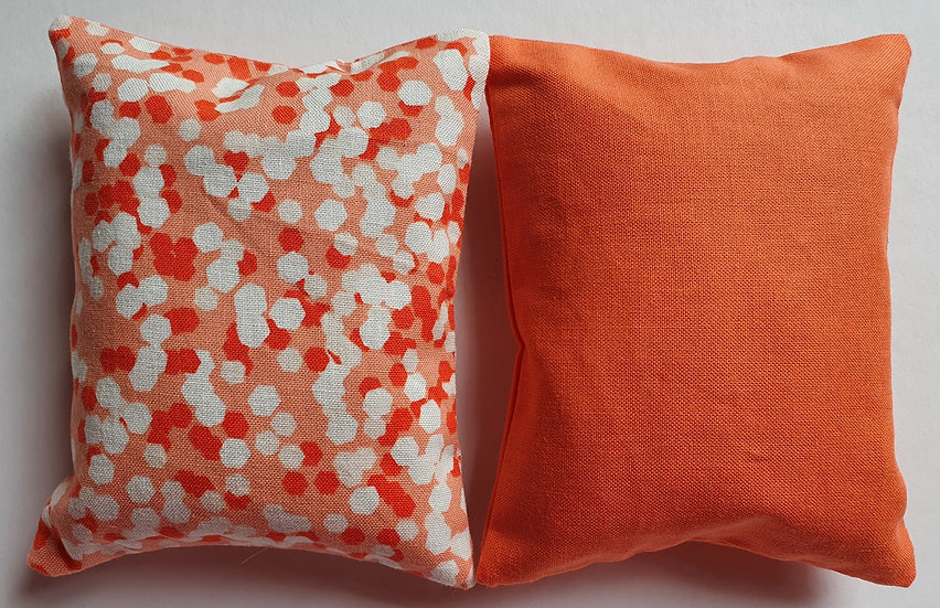 Lavender bag set - coral and white