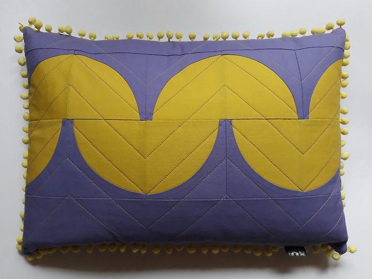 Quibble cushion - amethyst & wasabi
