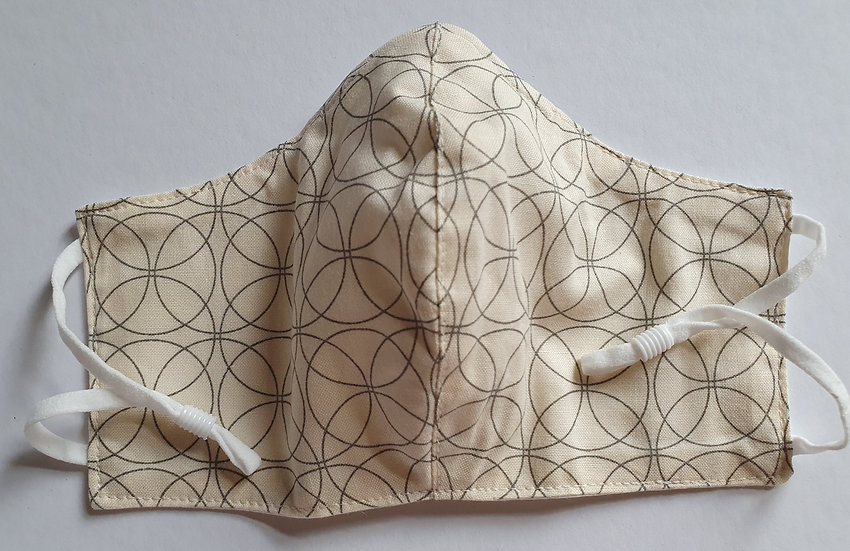 Women / teen's face covering - interlocking circles