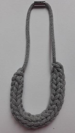 Crocheted necklace - slate grey