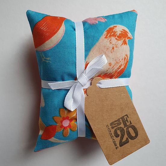 Lavender bag set - blue birds