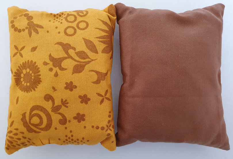 Lavender bag set - caramel and brown