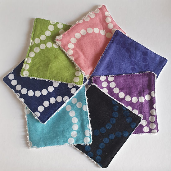 deluxe reusable wipes - circle dots dark