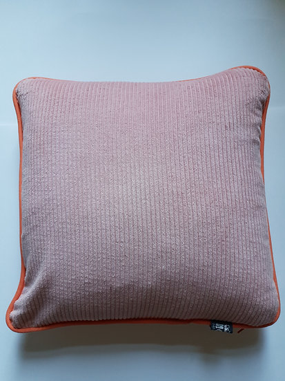 Corduroy & linen - pale pink and pale apricot