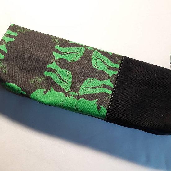 Dinosaur zip top pouch -green