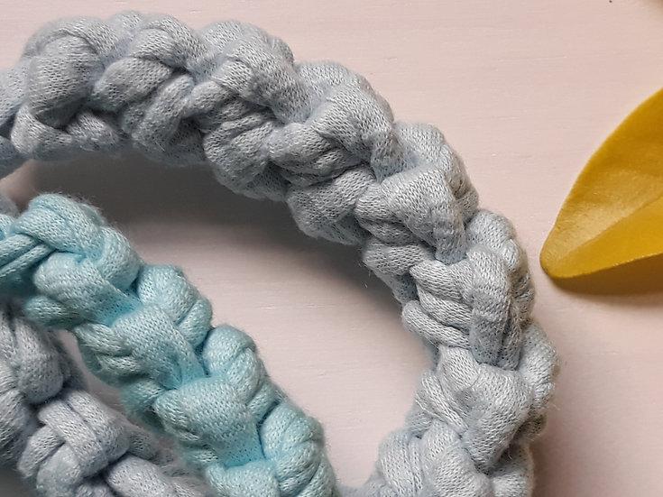 Crocheted bracelet -pale marl blue