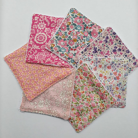 Deluxe reusable wipes - Liberty tana lawn pinks