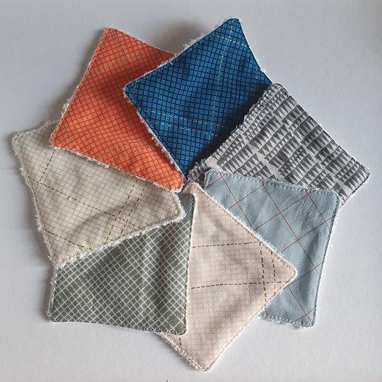 Deluxe reusable wipes - diagonal grids