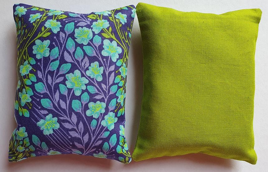 Lavender bag set - mint and lime floral