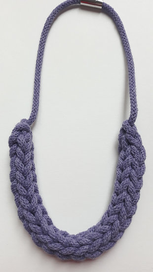 Crocheted necklace - soft purple