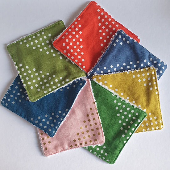 Deluxe reusable wipes - spotty stripes