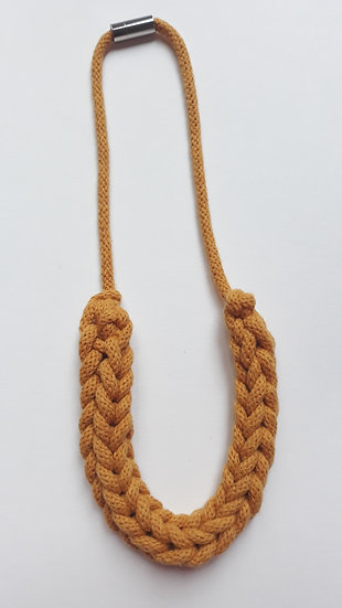 Rope necklace - mustard