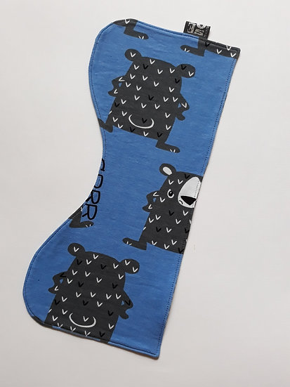 Burp cloths - Grumpy Bears, blue