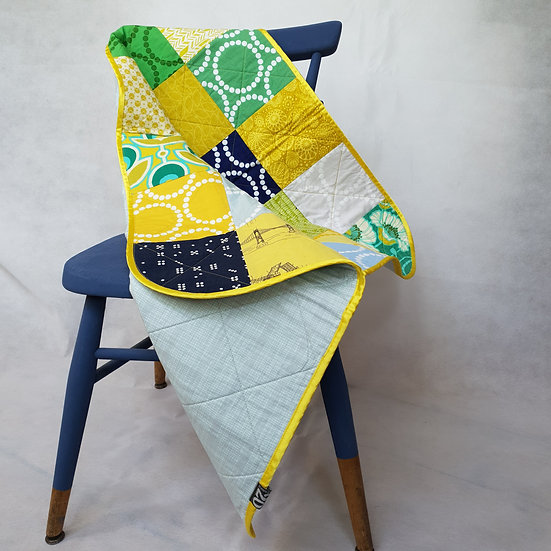 Baby quilt/playmat -yellow