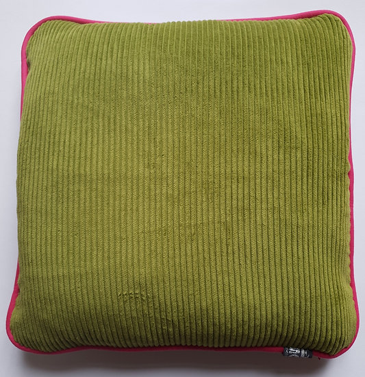 Cord and linen - pickle and bright pink