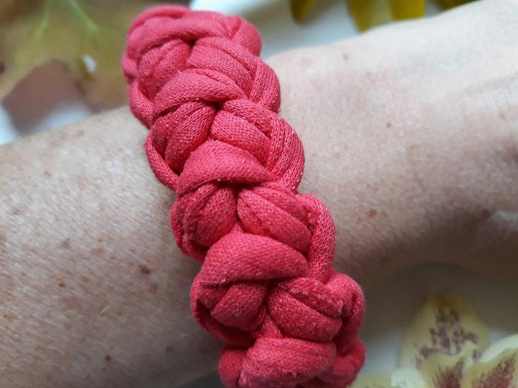 Crocheted bracelet - dark dusky pink