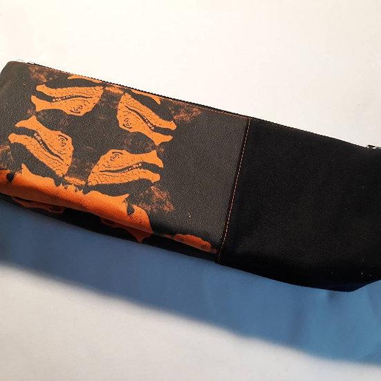 Dinosaur zip top pouch - orange