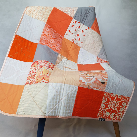 Baby quilt/playmat - coral