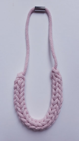 Crocheted necklace - baby pink