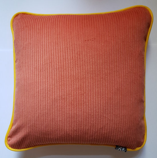 Corduroy & linen - dusty persimmon & yellow