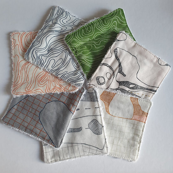 Deluxe reusable wipes - topography