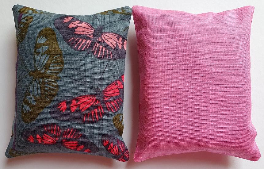 Lavender bag set - grey butterflies