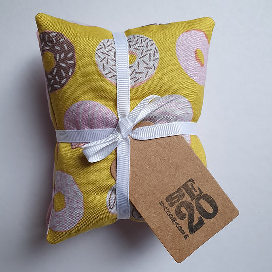 Lavender bag set - yellow doughnuts