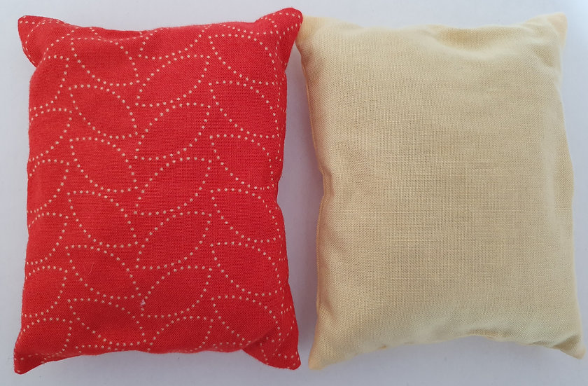 Lavender bag set - red and cream