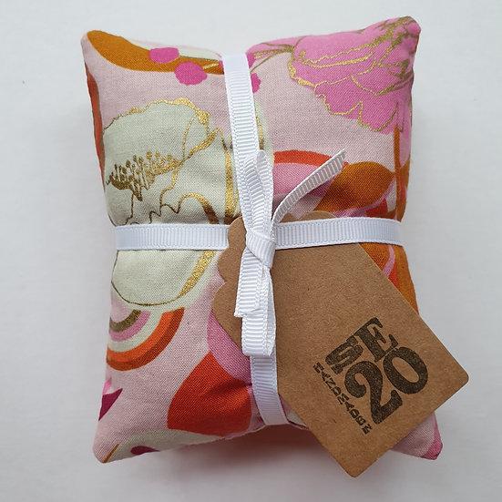 Lavender bag set - pink & gold flowers