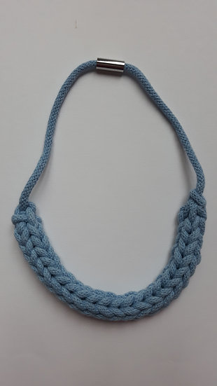 Crocheted necklace - baby blue