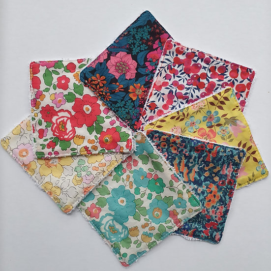 Deluxe reusable wipes - Liberty tana lawn mixed flowers