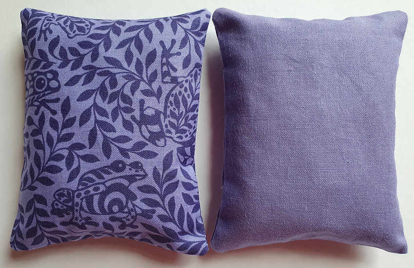 Lavender bag set - purple floral