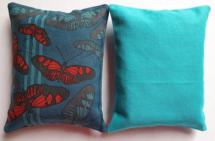 Lavender bag set - turquoise butterflies