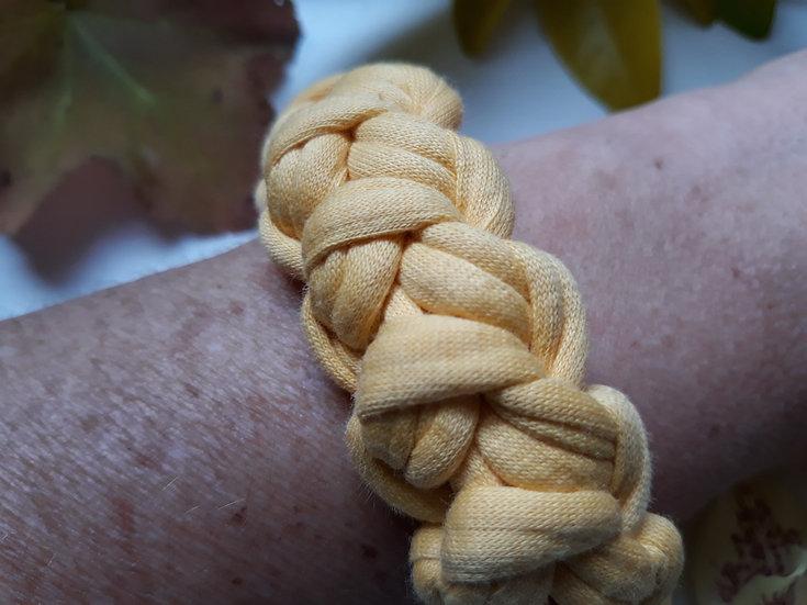 Crocheted bracelet - yolk yellow