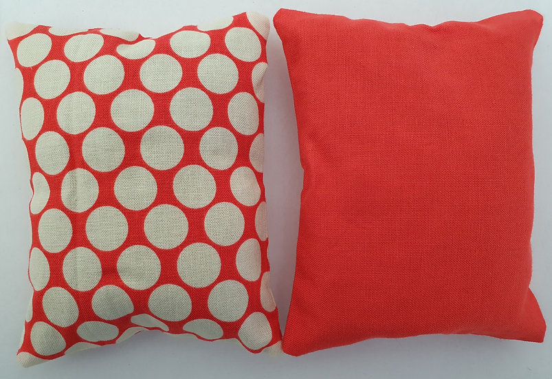 Lavender bag set - white spot and red