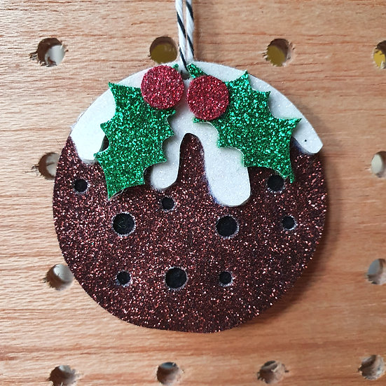 Glitter Christmas puddings