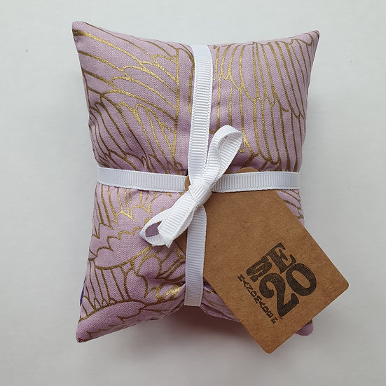 Lavender bag set - gold filigree
