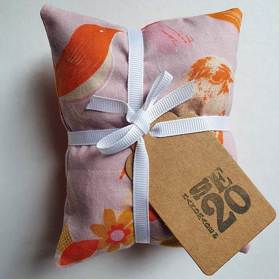 Lavender bag set  - pink birds